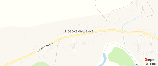 Улица Титова на карте поселка Новокамышенки с номерами домов