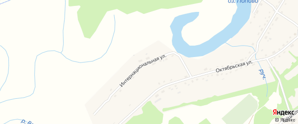Интернациональная улица на карте Горьковского села с номерами домов