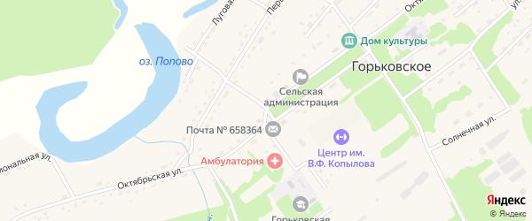 Октябрьская улица на карте Горьковского села с номерами домов