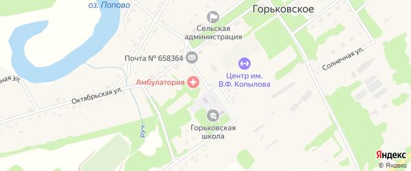 Школьная улица на карте Горьковского села с номерами домов
