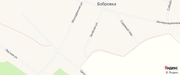 Зеленая улица на карте села Бобровки с номерами домов