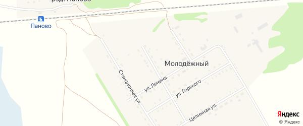 Переулок Серова на карте Молодежного поселка с номерами домов