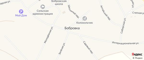 Советская улица на карте села Бобровки с номерами домов