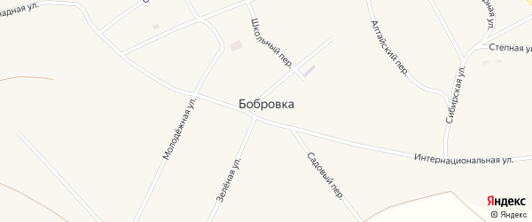 Школьный переулок на карте села Бобровки с номерами домов