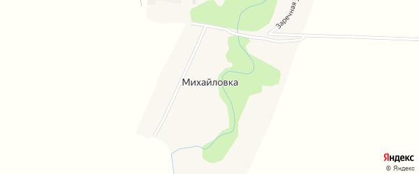 Заречная улица на карте села Михайловки с номерами домов