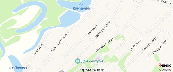 Садовая улица на карте Горьковского села с номерами домов
