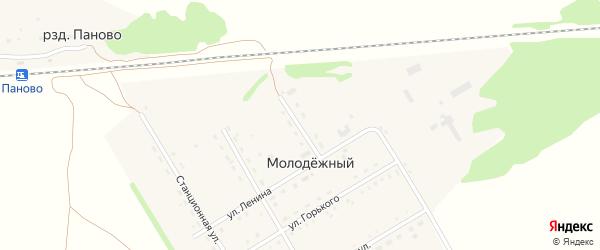 Переулок Стадникова на карте Молодежного поселка с номерами домов
