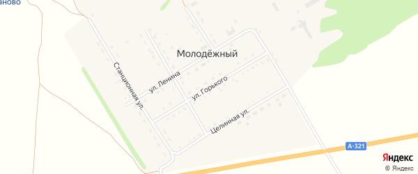Улица М.Горького на карте Молодежного поселка с номерами домов