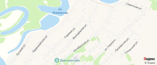 Молодежная улица на карте Горьковского села с номерами домов