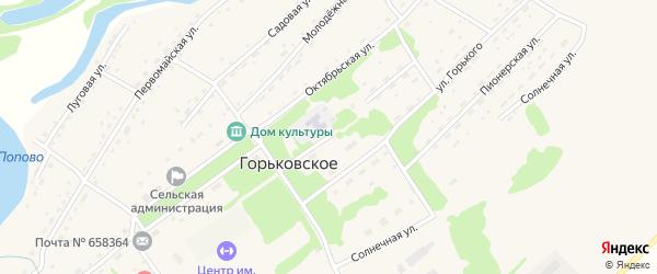 Комсомольская улица на карте Горьковского села с номерами домов