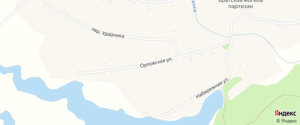 Орловская улица на карте села Паново с номерами домов