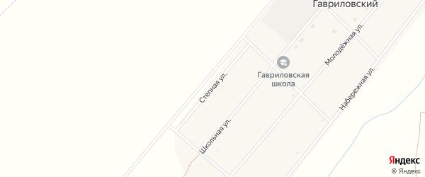 Степная улица на карте Гавриловского поселка с номерами домов