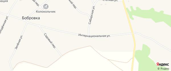 Интернациональная улица на карте села Бобровки с номерами домов