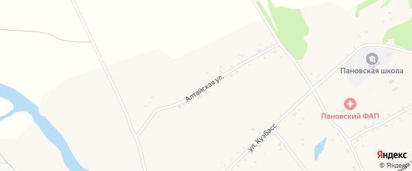 Алтайская улица на карте села Паново с номерами домов