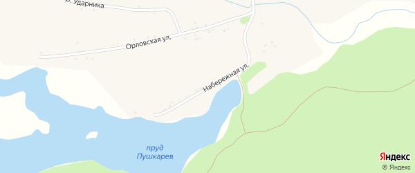 Набережная улица на карте села Паново с номерами домов