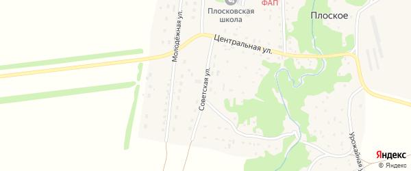 Советская улица на карте Плоского села с номерами домов