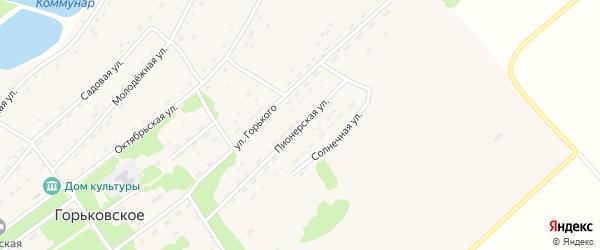 Пионерская улица на карте Горьковского села с номерами домов