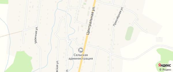 Центральная улица на карте села Саввушки с номерами домов
