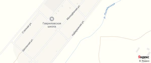 Набережная улица на карте Гавриловского поселка с номерами домов