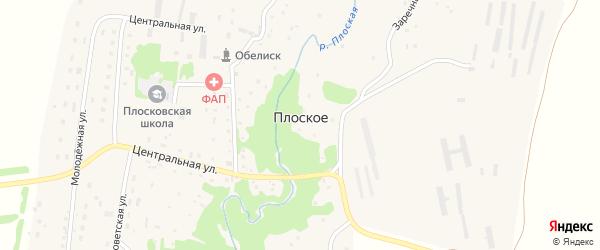 Набережная улица на карте Плоского села с номерами домов