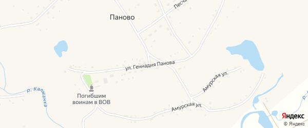 Улица Геннадия Панова на карте села Паново с номерами домов