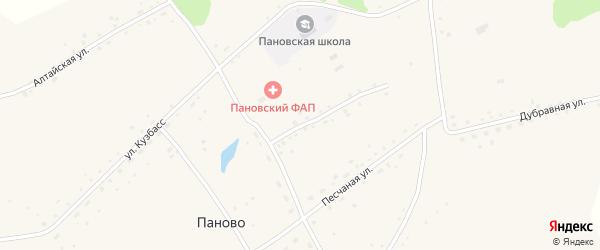 Улица Карла Маркса на карте села Паново с номерами домов
