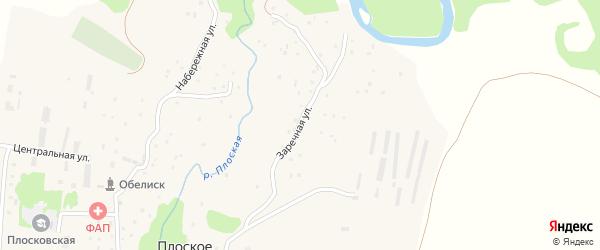 Заречная улица на карте Плоского села с номерами домов