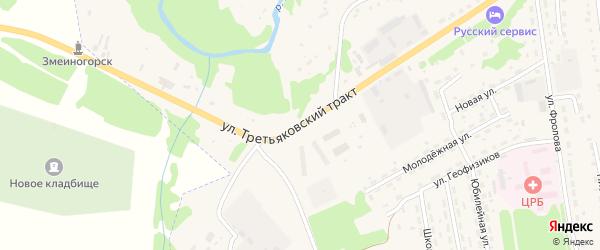 Улица Третьяковский Тракт на карте Змеиногорска с номерами домов