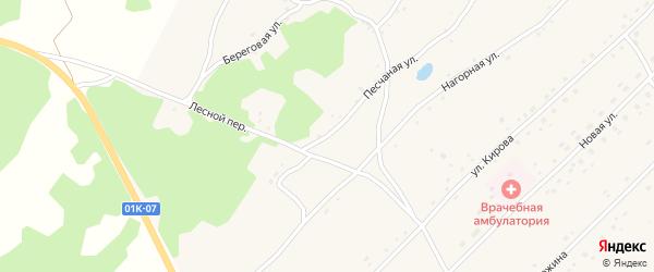 Песчаная улица на карте Боровского села с номерами домов