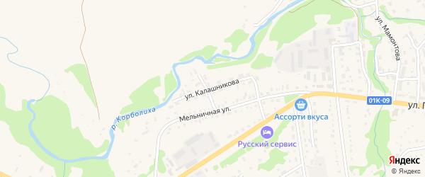 Улица Калашникова на карте Змеиногорска с номерами домов