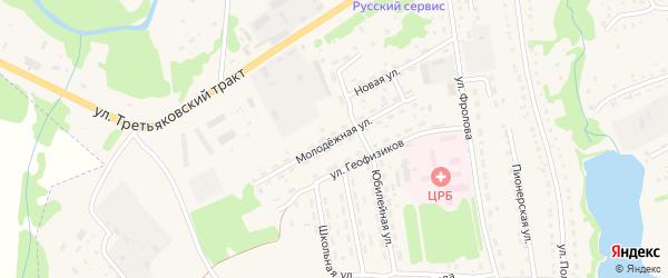 Молодежная улица на карте Змеиногорска с номерами домов