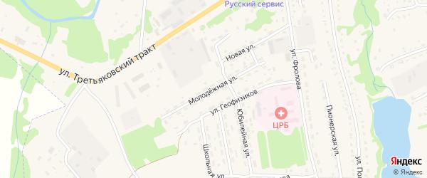 Молодежная улица на карте села Лазурки с номерами домов