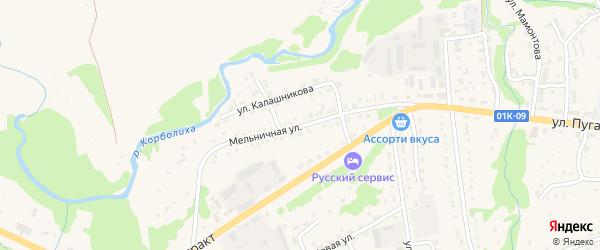 Мельничная улица на карте Змеиногорска с номерами домов