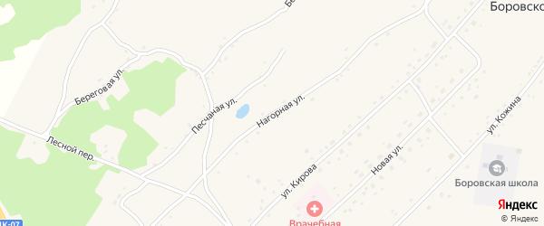 Нагорная улица на карте Боровского села с номерами домов