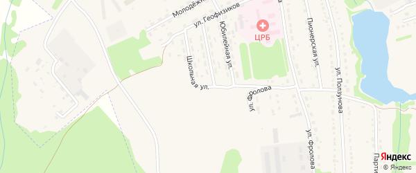 Школьная улица на карте Змеиногорска с номерами домов