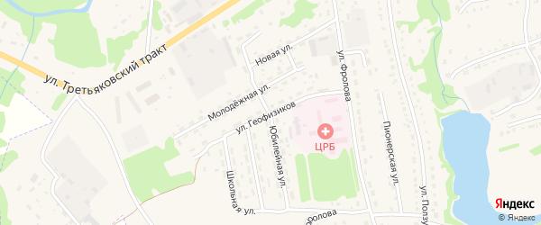 Улица Геофизиков на карте Змеиногорска с номерами домов