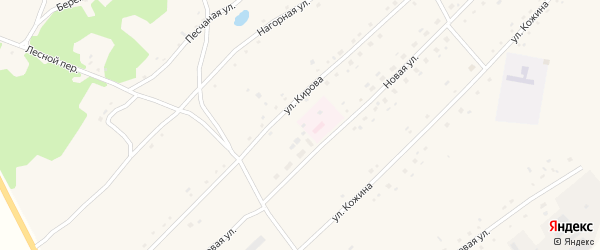 Парковый переулок на карте Боровского села с номерами домов
