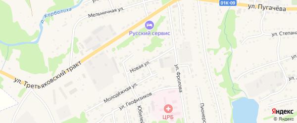 Новая улица на карте Змеиногорска с номерами домов
