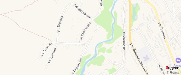 Улица Стрижкова на карте Змеиногорска с номерами домов