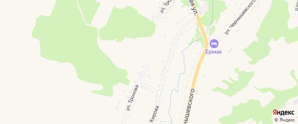 Улица Тронова на карте Змеиногорска с номерами домов