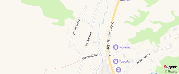 Улица Кирова на карте Змеиногорска с номерами домов