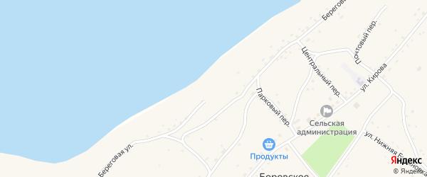 Береговая улица на карте Боровского села с номерами домов