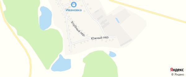 Южный переулок на карте села Ивановки с номерами домов