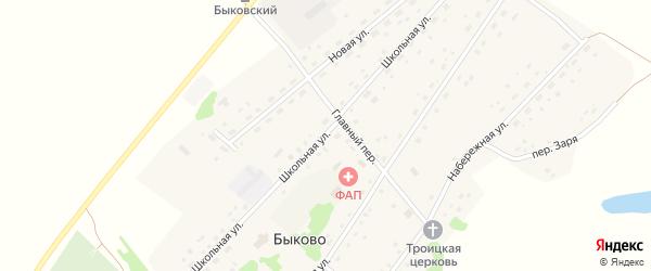 Школьная улица на карте села Быково с номерами домов