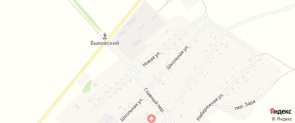 Новая улица на карте села Быково с номерами домов