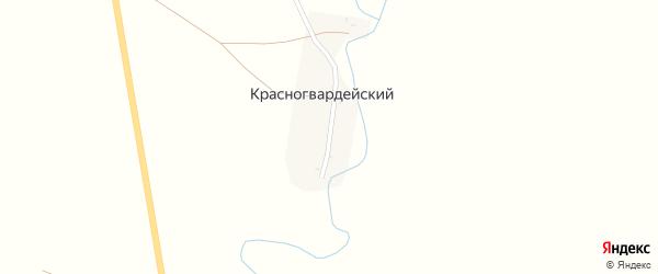 Центральная улица на карте Красногвардейского поселка с номерами домов