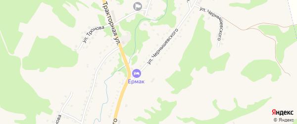 Улица Чернышевского на карте Змеиногорска с номерами домов
