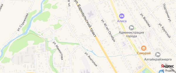 Улица Анатолия на карте Змеиногорска с номерами домов