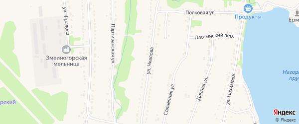 Улица Чкалова на карте Змеиногорска с номерами домов