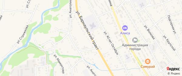 Улица Барнаульский тракт на карте Змеиногорска с номерами домов